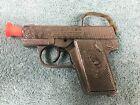 """Vintage 1950s Hubley Dick Tracy #210A Die Cast Metal Toy Pistol Cap Gun 4"""" Works"""