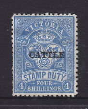 "Victoria: 1950-60 ""Cattle"" Thin Closed C Type, 4/ Perf 11 Mint No Gum."