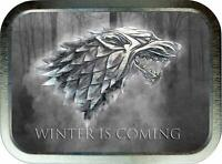 Winter is Coming 2oz Silver Tobacco Tin, Game Of Thrones Tobacco Tin,Storage Box