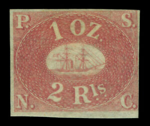 PERU 1857  PACIFIC STEAM NAVIGATION Co  2R rose  Sc# 2 REPRINT Only 800 printed