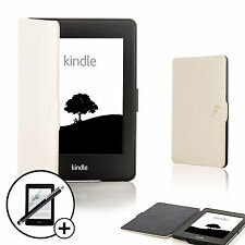 Forefront Cases® White Smart Case Cover Kindle Paperwhite 2015 Scrn Prot Stylus