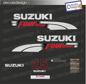 Adesivi motore marino fuoribordo Suzuki 2.5 cv four stroke 2006 stickers