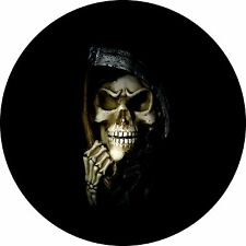 Skull # 4 grim reaper Spare Tire Cover Jeep RV Camper Trailer etc(all sizes aval