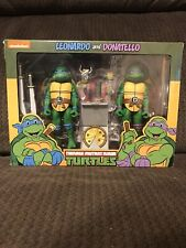 NECA Teenage Mutant Ninja Turtles Leonardo & Donatello Action Figure New
