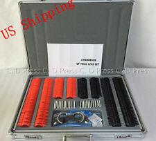 US 266 Pcs Optical Trial Lens Set Plastic Rim + 1 Pc Trial Frame+Aluminium Case
