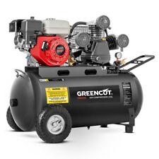 Compresseur d'air 120 litres 8 BAR 470 l/min moteur a essence 6.5cv -GREENCUT