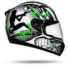 ATO Moto GUN Motorradhelm mit Visier Top Helm zum Top Preis Größe M ECE 2205