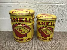 Set of 2 Shell Oil Drum stool with Padded Seat Retro