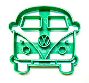 VW VAN BUS MICROBUS FRONT VIEW 1950S VINTAGE VEHICLE COOKIE CUTTER USA PR2161