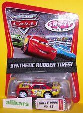 O- SHIFTY DRUG #35 Rubber Tires Mattel Disney Pixar Cars 1:55 Diecast Vehicle