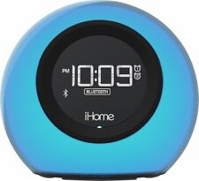 iHome Bluetooth Color Changing Dual Alarm Clock FM Radio USB Charge Speakerphone