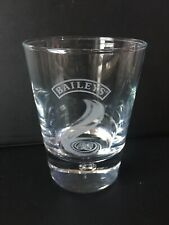 Baileys Irish Cream Glass Bubble Base Etched Logo