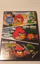 Angry Birds/Angry Birds Seasons/Angry Birds Space (PC, 2012) 3 Disc Set - VG+