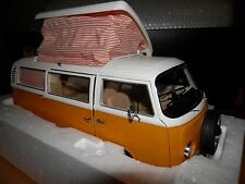 VOLKSWAGEN T2A Camping Bus in Yellow 1/18 scale model by Schuco