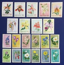 POLAND-1962-1965 Complete Sets ORCHIDS & PROTECTED FLOWERS& PLANTS -All MNH