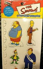 """THE SIMPSONS POP OUT PEOPLE 3 MEN AND A COMIC BOOK EPISODE 7F21 MINT 14"""" x 5"""""""