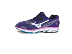 Mizuno Sneakers Purple Plumeria Wave Rider 17 Running Training Womens Size 10.5