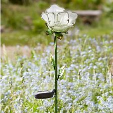 Smart Jardin Rose Blanche Piquet Bordure Lumière Solaire Ornement de Décoration