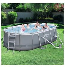 "New ListingBestway 13 11"" x 8x2"" x 39.5"" Power Steel Oval Frame Swimming Pool Set"