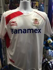 Atlética Toluca Away White Red 09-10 Soccer Jersey Size S Men's Only
