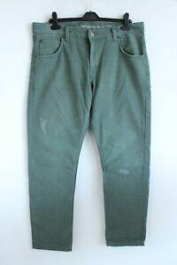 Mustang NEW Green Denim Comfort Fit High Rise Men denim Jeans Size W36 L34