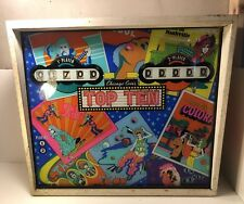 Vintage 1975 Pinball Machine Back Chicago Coins Top Ten Chicago Dynamics #455