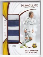 2018-19 LUKA MODRIC #/50 PATCH PANINI IMMACULATE REAL MADRID MAGNIFICENT