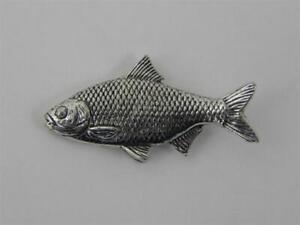 Rotauge Pin Anstecknadel Anstecker Button Angler Schmuck Fisch Pinwand Geschenk
