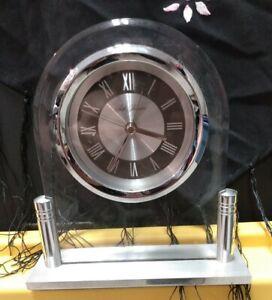 Seth Thomas Quart Desk Top Mantle Shelf Alarm Clock Watch Nickel