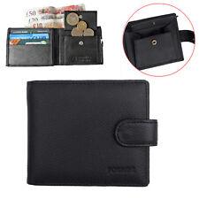 RFID Blocking LEATHER Mens Black Bifold Wallet Coin Purse Credit Card Holder