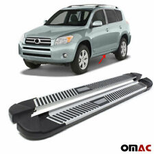 Side Steps Running Boards Aluminum Nerf Bars 2 Pcs For Toyota RAV4 2006-2012