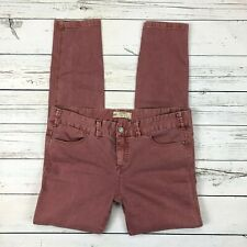 Free People Skinny Jeans Size 31 Womens Stretch Pastel Brick Red 61855-16515125