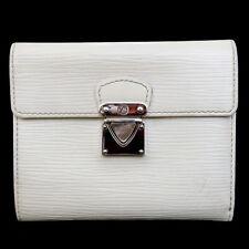 Authentic LOUIS VUITTON Koala Trifold Wallet Epi Leather White M5801J 07B680