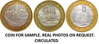 HIGH GRADE  2004  3 BI-METALLIC RUSSIAN COINS 10 RUBLES ANCIENT CITIES OF RUSSIA