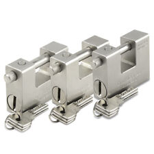 HEAVY DUTY SHIPPING CONTAINER PADLOCK 84MM X 2 WITH 5 KEYS  ** KEYED ALIKE **