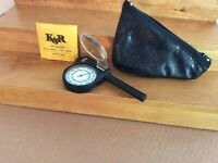 Vintage Map Measuring Tool & Case With Instructions K&R Opisometer