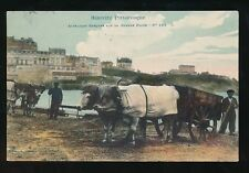 Agriculture BIARRITZ Pittoresque Attelages Barques Beach cart Used 1912 PPC