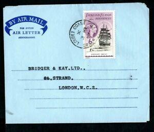 Falkland Island Dependencies 1959 Airmail Cover Aerogramme Loubet Coast Postmark