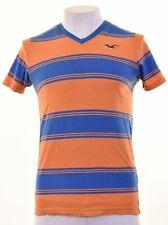 HOLLISTER Mens T-Shirt Top Medium Blue Striped Cotton  GK18
