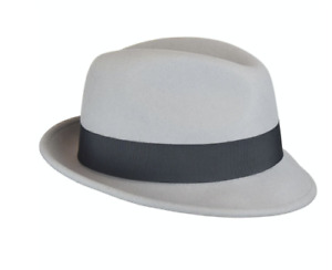 Bailey TIno Platinum Silver Gray Litefelt Center Dent Wool Fedora NWOT XL