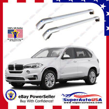 Sliver Top Roof Rack For BMW 2014 - 17 X5 F15 Baggage Luggage Cross Bar Crossbar