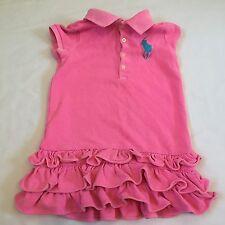 Ralph Lauren pink ruffled polo shirt dress Baby girls clothes 18-24 Months 2T