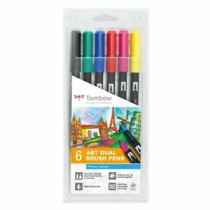 Tombow ABT Dual Brush Colour Pens - Primary Colours set of 6