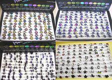 New Wholesale Lots 100Pcs Mixed Cartoon Shape Fashion Colorful Mood Finger Rings