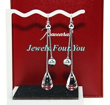 BACCARAT JEWELRY DIVINE EARRINGS 18K SOLID WHITE GOLD , BLACK PEARL NEW $2800