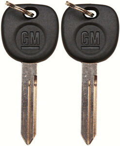 2 Genuine Strattec OEM GMC GM Logo Non-Transponder Key Blank 15026223 23372321