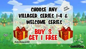 Animal Crossing New Horizon NFC amiibo cards! BUY 3 GET 1 FREE