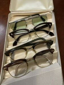 6 old spectacles and 5 vintage glasses cases