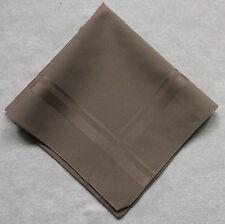 Vintage Handkerchief MENS Hankie Top Pocket Square LIGHT BROWN