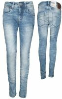 NEW Skinny Jeans in bright Blue Stoned Denim Superstretch Width Normal CARS MONA